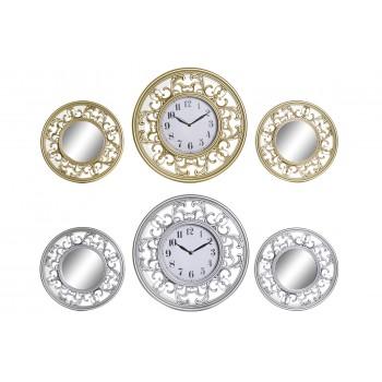 Reloj Set 3 Pcs - 2 Espejos