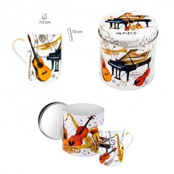Mug Instrumentos Lata Metal...