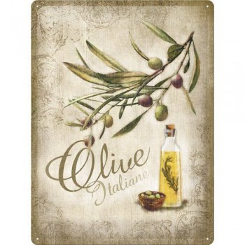 Olive Placa Metal 30 x 40 cms