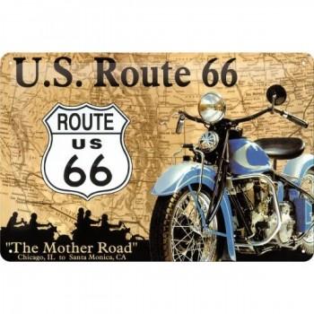 Route 66 Placa Metal 20 x...