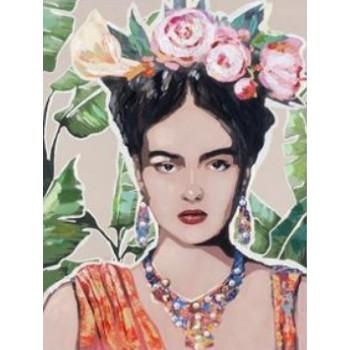 Cuadro Frida Flores 80cms