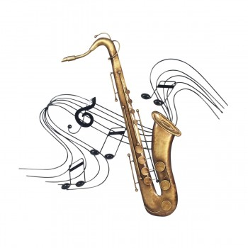 Saxo Metal Adorno Pared -...