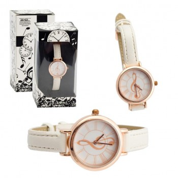 Reloj Música Oro/Rosa