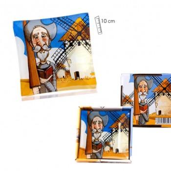 Plato Quijote Cuad - 10 x...