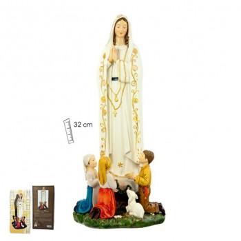 Virgen Fátima c/niños 32cms