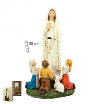 Virgen Fátima c/niños 20 cms