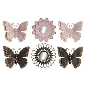 Mariposa Deco Pared Set3 -...