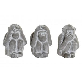 Monos Cemento Set3 - 12 cms