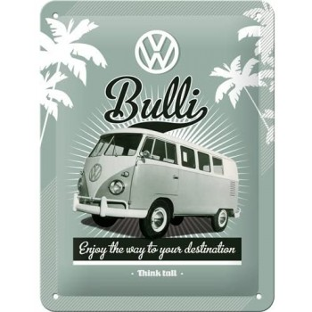 Bulli VW Placa Metal 15x20cms
