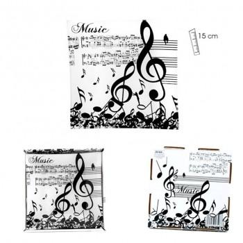 Plato Música 15 x 15cms
