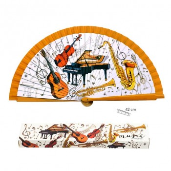 Abanico Instrumentos 42 cms