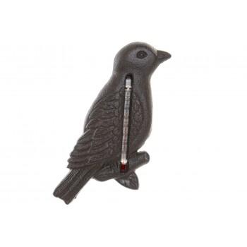 Termómetro Pájaro Hierro 19cms
