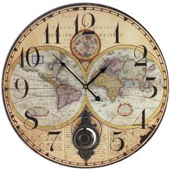 Reloj Mapa Mundi 58 cms